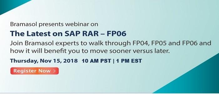 15 Nov Webinar Bramasol SAP RAR - The Latest on SAP RAR FP06-1