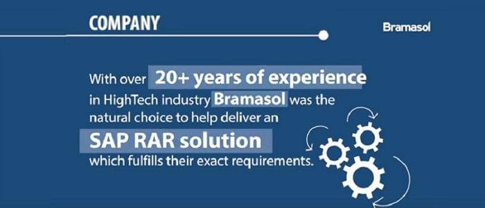 Bramasol Customer Story- High Tech Equipment Manufacturer