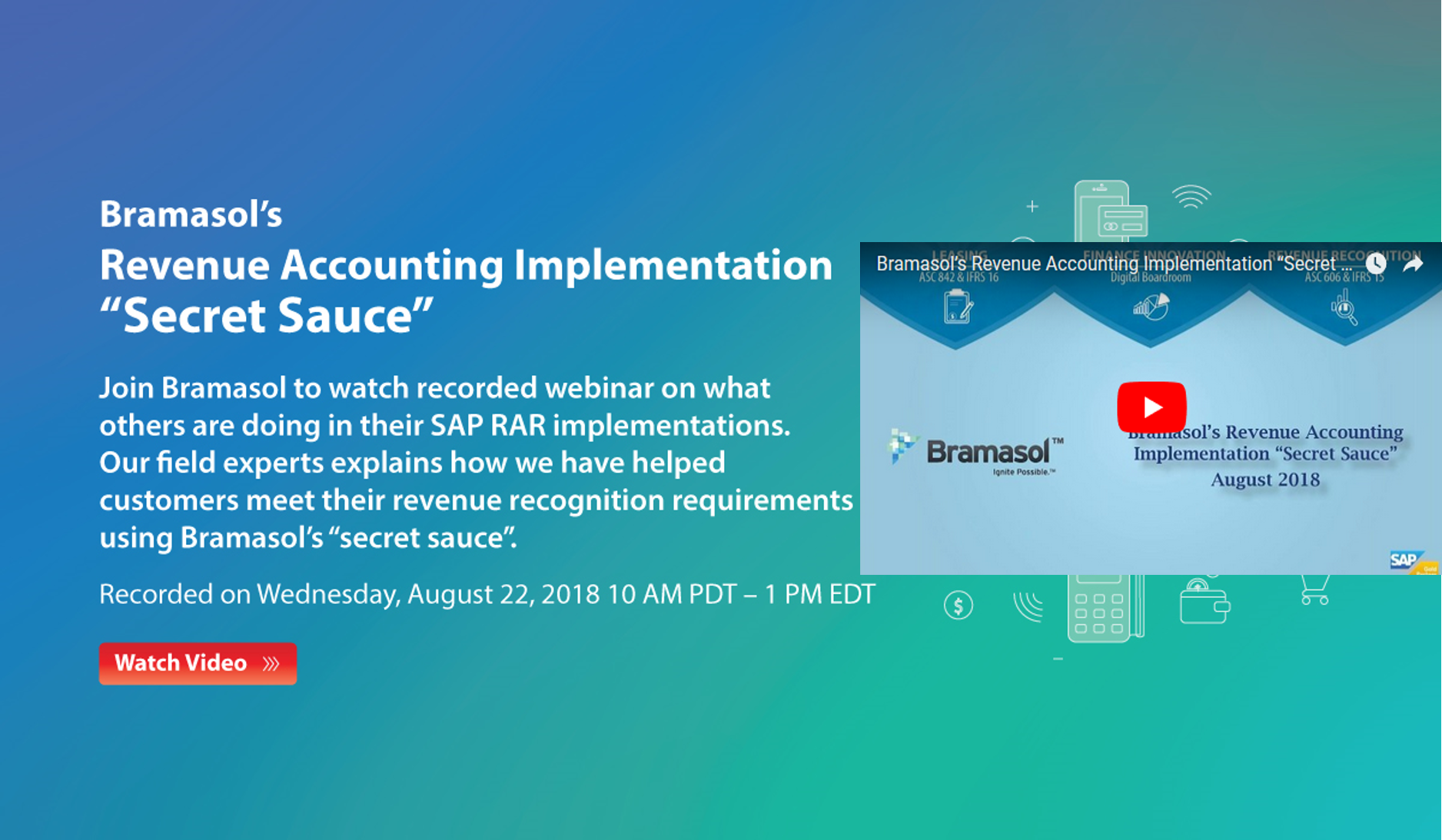 Bramasol's Revenuw Accounting Implementation Recored Webinar Aug 2018