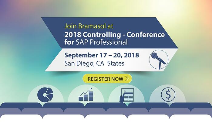Join Bramasol at SAP Controlling conferance San Diego Sept 17-20 2018