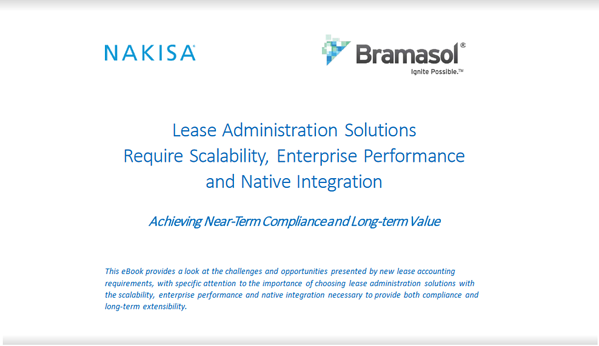 eBook Lease Admin Solutions Need Scalability Enterprise Performance and Native Integration